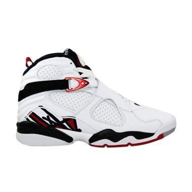 ... Jual Nike Air Jordan 8 Retro Sepatu Basket - Putih 305381 104 Terbaru -  Harga Promo ... 252e3b7d48