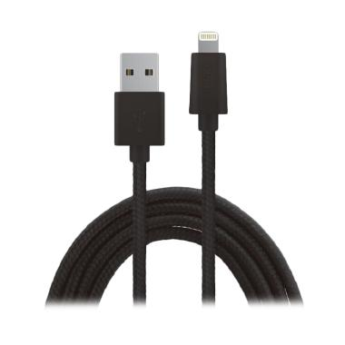 Zikko Lightning Cable - Hitam [Charger & Sync/2.4A/1.5 m]