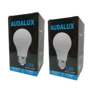 Audalux E27 Lampu LED - Warm White [7 Watt/2 Pcs]