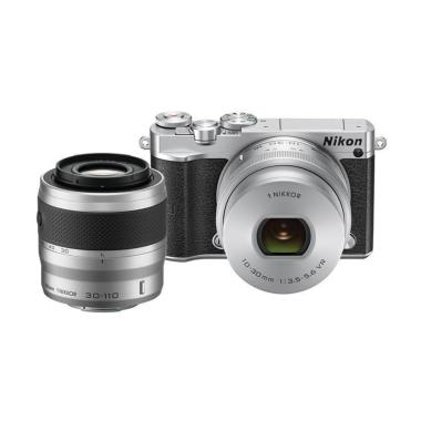 Nikon 1 J5 Kit 10-30mm with 30-110mm Double Lens - Silver