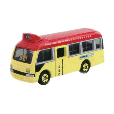 Tomica Toyota Coaster Minibus Diecast - Red Skala 89