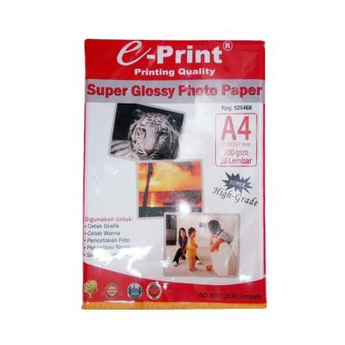 E-Print Super Glossy Photo Paper [A4/200 gsm/20 Sheets]
