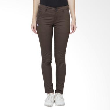 Cany Chino Basic Women Celana Panjang - Dark Brown
