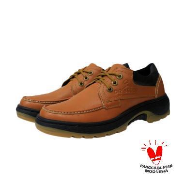 Handmade DR Becco Bugatti Tracking Sepatu Kasual Pria - Tan