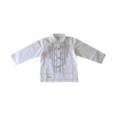 Rafifa Koko Panjang Model D Baju Koko Anak - Putih