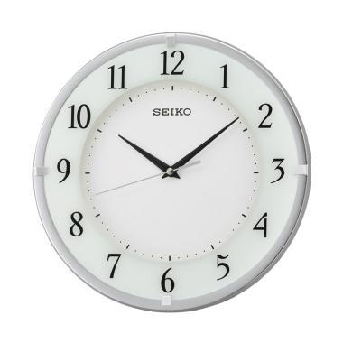 SEIKO QXA658S Wall Clock Jam Dinding - Silver [30 cm]