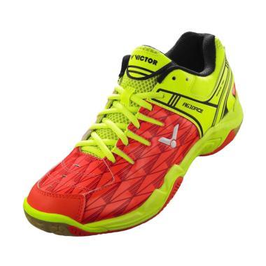 Victor Sepatu Badminton A610ACE - Orange Green