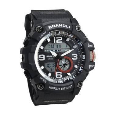 Brandli AD319MBLK Dualtime Jam Tangan Pria