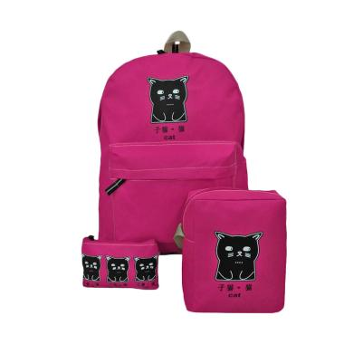 Bag & Stuff The Cat 3in1 Bag Set Tas Wanita - Pink