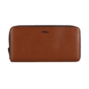 Bonia Double Zip Purse Dompet Wanita - Brown 1817edaa11