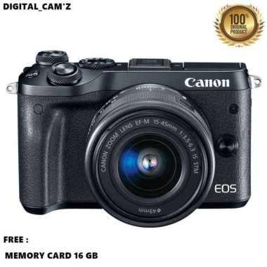 harga New Kamera Canon Eos M6 Kit 15-45 Stm Trend Hitam Blibli.com
