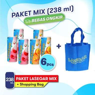 harga Lasegar Kaleng 238ml isi 6pcs Mix Rasa Leci dan Jeruk FREE Tas Belanja Blibli.com