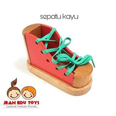 harga Jean.edutoys sepatu kayu mainan anak bahan kayu Blibli.com