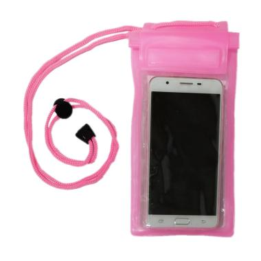 QCF Waterproof Pouch Case / Tas / Tempat Hp Anti Air for All Smartphone - Pink