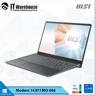 harga MSI Modern 14 B11MO 068 Notebook [ i7-1165G7/ 512GB SSD/ 8GB DDR4/ Intel Iris Xe Graphics/ Windows 10 Home ] Carbon Grey Blibli.com