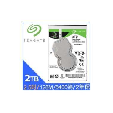 (Seagate)Seagate [BarraCuda] new barracuda (ST2000LM015) 2TB / 5400 rpm /128M/2.5 inch / 2Y