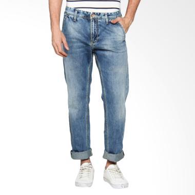 Lois Men Fashion Straight Celana Panjang Pria - Denim Blue CFS 306