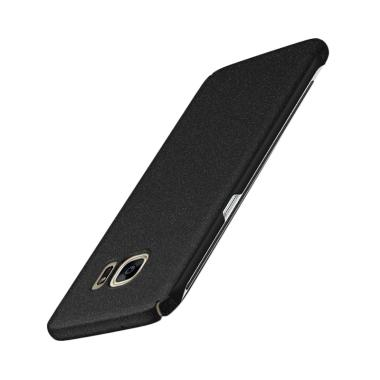 WEIKA Sand Scrub Ultra Thin Hardcase Casing for Samsung Galaxy S7 Edge - Black