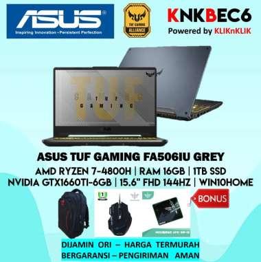 harga ASUS TUF GAMING FA506IU GAMING LAPTOP - GREY [AMD RYZEN 7 4800H RAM 16GB 1TB SSD GTX1660TI 6GB 15.6 FHD 144HZ WIN10HOME] GREY Blibli.com