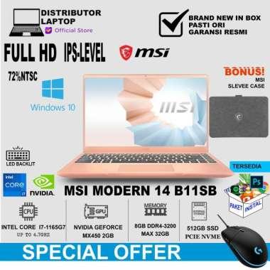 harga MSI Modern 14 B11SB (i7-1165G7/512GB PCIe Gen3x4 SSD/DDR4 8GB/WIN10/14