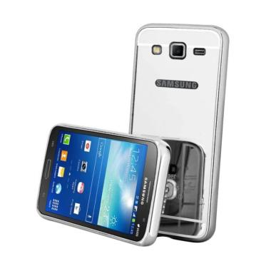 Winner Bumper Metal Sliding Mirror Casing for Samsung Galaxy Grand Prime G530 - Silver