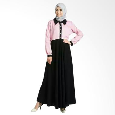 JCFashion Gamis Fashion Kombinasi Warna Pink