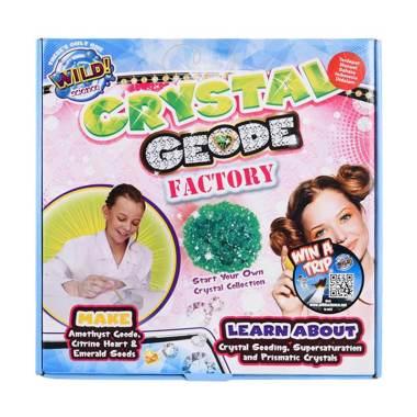 Wildscience Crystal Geode Factory Mainan Edukasi Anak