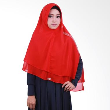 Atteena Hijab Khimar Nezalia Jilbab Instan - Light Red