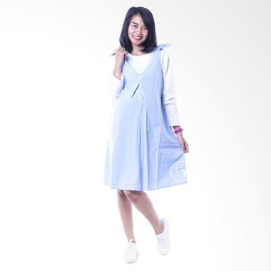 Mama Hamil DRO 843 Candy Dress Over ... amil Menyusui - Biru Muda