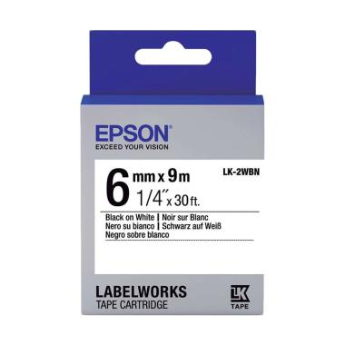 Epson LabelWorks LK-2WBN Tape Cartridge - Black on White [6mm]