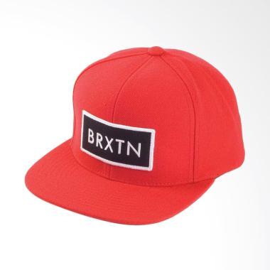 Jersi Clothing Brixton Snapback Topi Pria - Red 571a4fdf6e