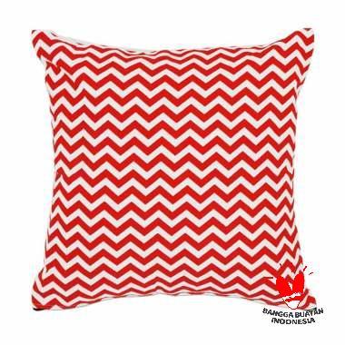 Stiletto In Style Chevron Cushion Cover - Red