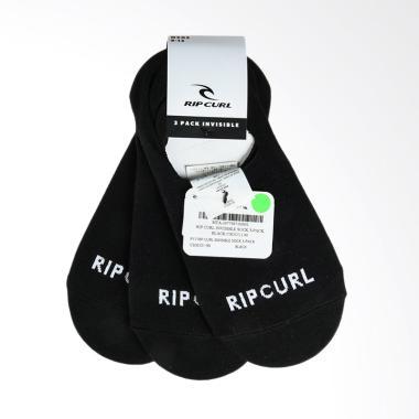 Rip Curl Invisible Sock 3-Pack Kaos Kaki Pria - Black [CSOCO1 90]