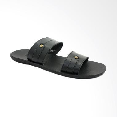 Dr.Kevin Slip On Sandal Pria - Black [97194]