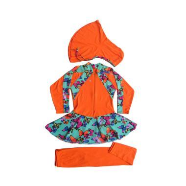 Rainy Collections Motif Butterfly Baju Renang Anak Muslim - Orange
