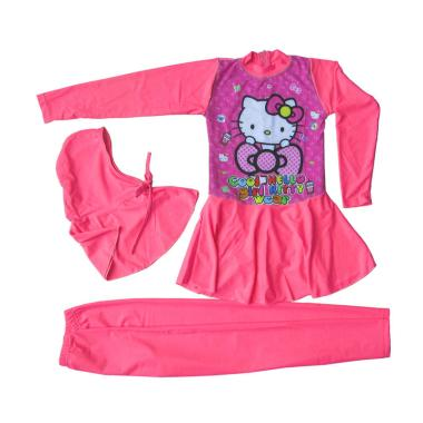 Rainy Collections Karakter Hello Ki ...  - Baby Pink [5-10 Tahun]