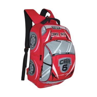 CBR Six DIC432 3D Cars Backpack Tas Sekolah Anak Laki - Merah