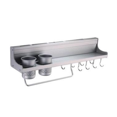 Gogo Model Aluminium Rak Dinding Dapur Multifungsi