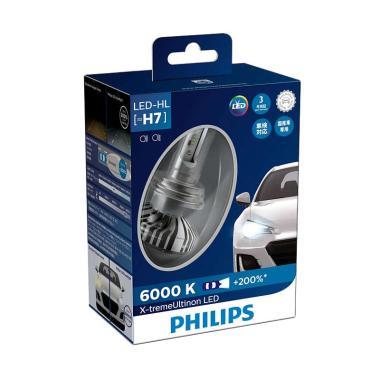 PHILIPS Xtreme Ultinon LED H7 Lampu Mobil [12V/ 24V/ 23W/ 6000K]