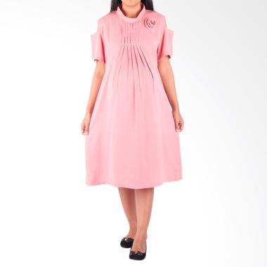 HMILL D1371 Dress Hamil Menyusui - Peach