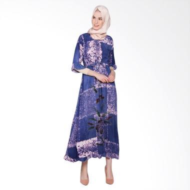 Jogja Batik Fairus Motif B Long Dress Muslim Wanita