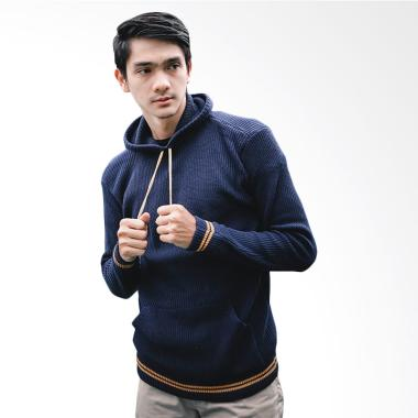 Gomuda Hoodie Cord Sweater Rajut Pria - Navor