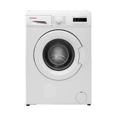 SHARP ESFL872 Mesin Cuci Front Loading - Putih [7 kg/Khusus Jadetabek]