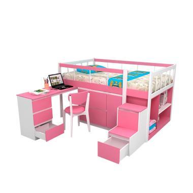 Funkids 01-120 TL Austin Tempat Tidur Anak - Pink
