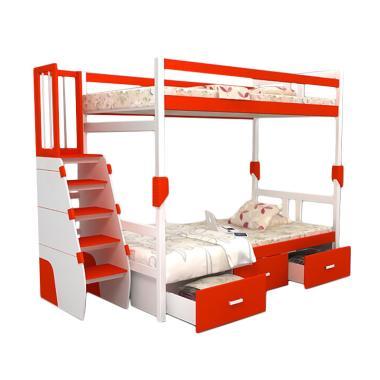 Funkids Allecra 02-100 TS Tempat Tidur Anak - Red