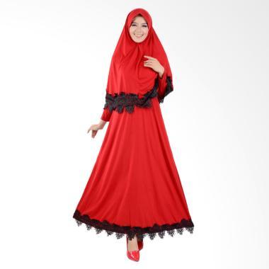 Jfashion Variasi Renda Maxi Hasna P ... mis Muslim Wanita - Merah