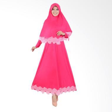 Jfashion Variasi Renda Maxi Hasna P ... amis Muslim Wanita - Pink