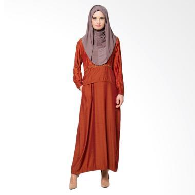 Mirtazani Qori Fahrani Gamis Baju Muslim Wanita - Teracota