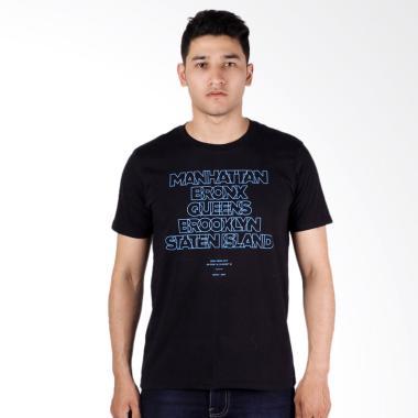 DSVN Brooklyn Printed T-Shirt Pria - Black
