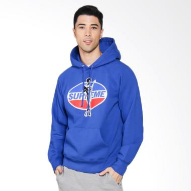 Supreme New York Hysteric Glamour Hooded Sweatshirt in Blue